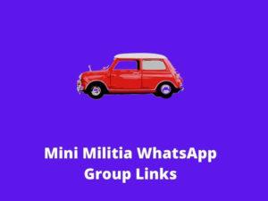 Mini Militia WhatsApp Group Links