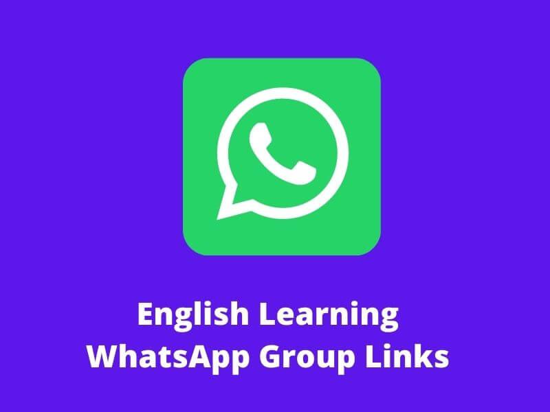 English Learning WhatsApp Group Links