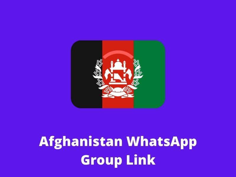 Afghanistan WhatsApp Group Link 2020