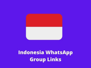 Indonesia WhatsApp Group Links