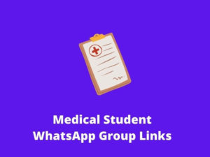 Medical Students WhatsApp Group Links