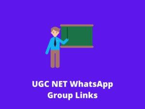 UGC NET WhatsApp Group Links