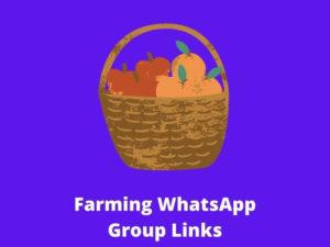 Farming WhatsApp Group Links