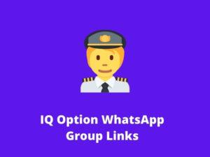 IQ Option WhatsApp Group Links