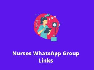 Nurses WhatsApp Group Links