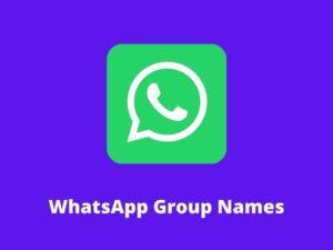 WhatsApp Group Names Idea