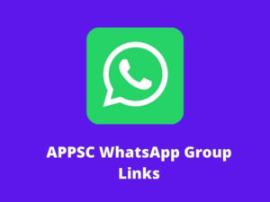 APPSC WhatsApp Group Links