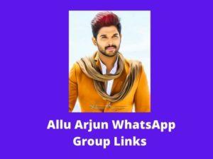 Allu Arjun Fans WhatsApp Group Links