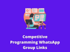 Competitive Programming WhatsApp Group Links
