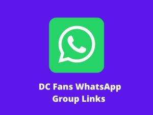 DC Fans WhatsApp Group Links