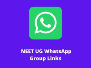 NEET UG WhatsApp Group Links