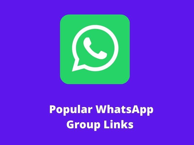 Popular WhatsApp Group Links