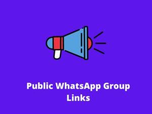 Public WhatsApp Group Links