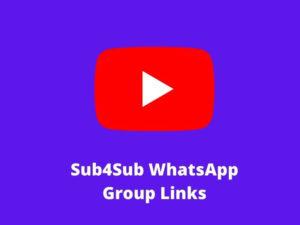 Sub4Sub WhatsApp Group Links