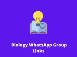 Biology WhatsApp Group Links