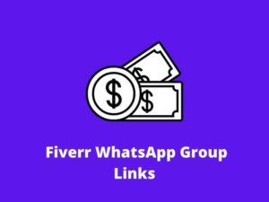 Fiverr WhatsApp Group links
