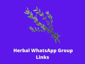 Herbal WhatsApp Group Links 2021