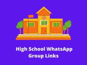 High School WhatsApp Group Links