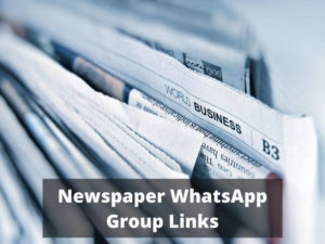 Top Newspaper WhatsApp Group Links