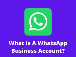 What is a WhatsApp business account