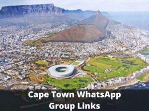 Cape Town WhatsApp Group Links