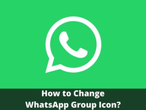 How to Change WhatsApp Group Icon easy way
