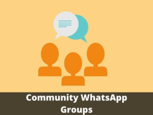 Community WhatsApp Group Links