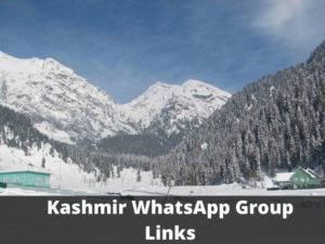 Kashmir WhatsApp Group Links